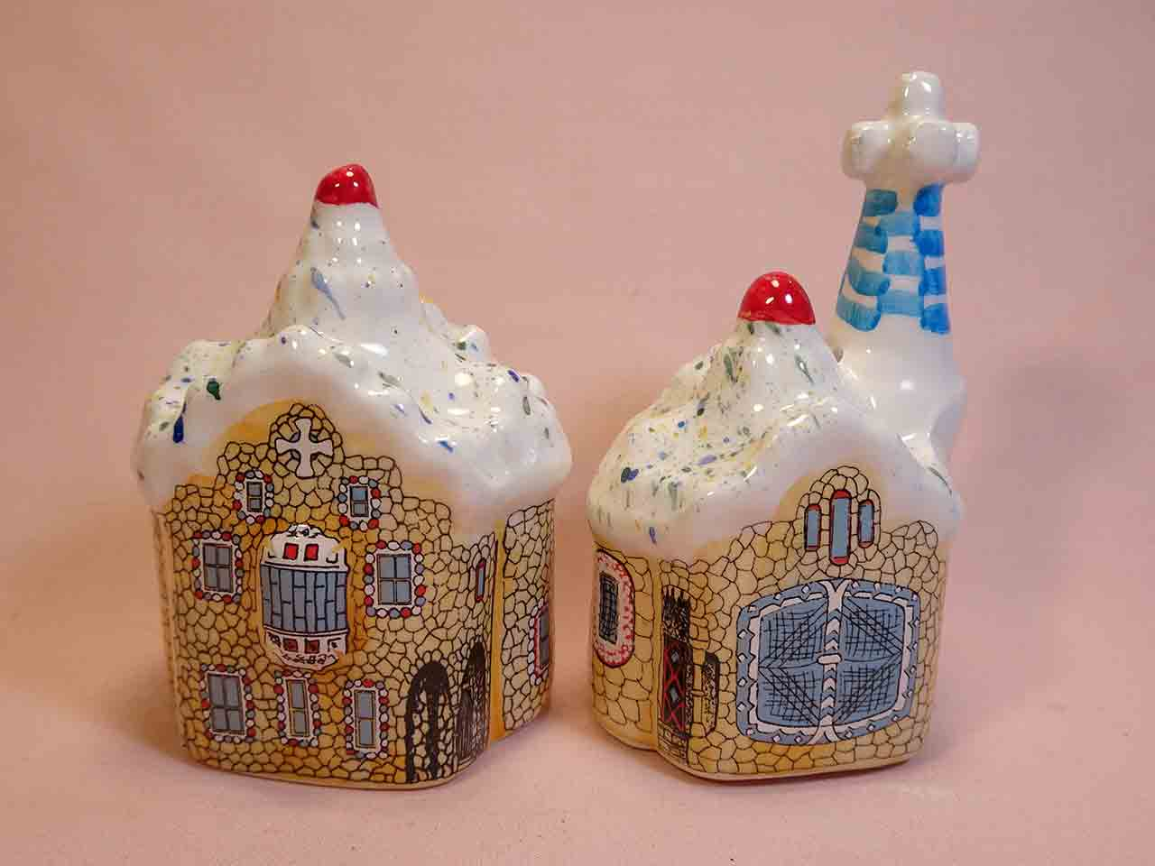 Park Guell by Gaudi salt and pepper shakers