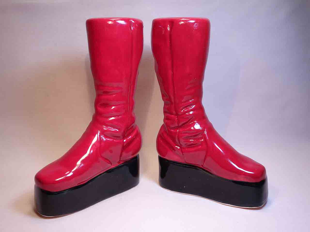 David Bowie's red boots by Gary Seymour